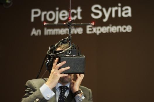 Experiencing Project Syria. Image courtesy Eren Aksu.