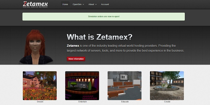 New Zetamex site