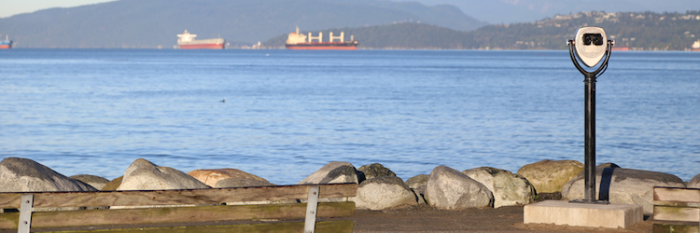 Installation site on Vancouver's English Bay. (Image courtesy Adrian Crook.)