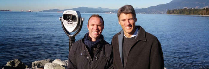 Adrian and Vancouver Mayor Gregor Robertson.  (Image courtesy Adrian Crook.)
