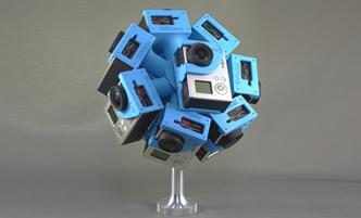 360Heros camera systems film 4K 360 degree virtual reality content. (Image courtesy 360Heros.)