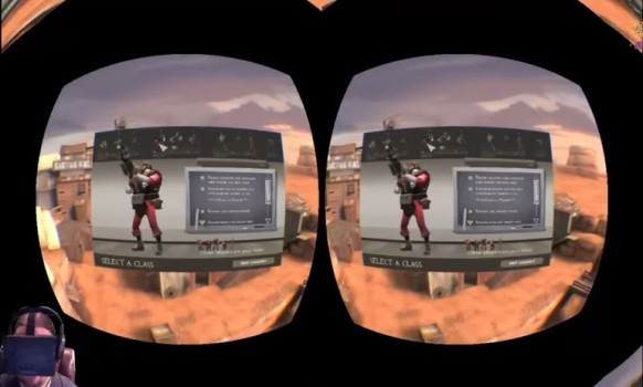 Team Fortress 2 is available for download from the Oculus Share portal. Click on image to watch video.