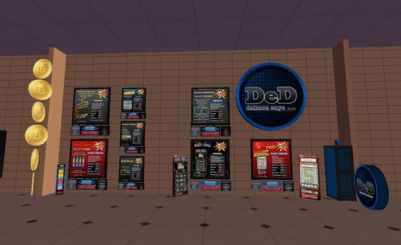 A variety of gambling-related vendors are available for sale on the welcome region.