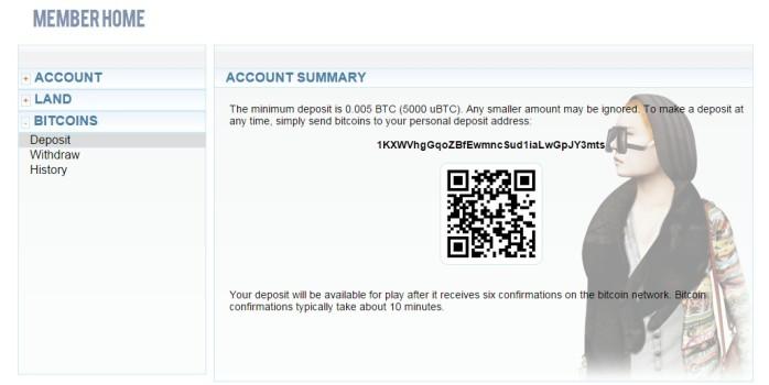 My Bitcoin deposit address.