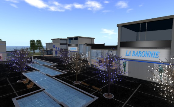 La Baronnie, the main freebie area on the Bubblesz grid. Hypergrid teleport to bubblesz.nl:8002:La Baronnie.