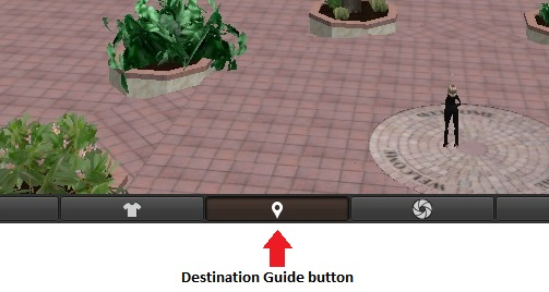 This button opens the Destination Guide window.
