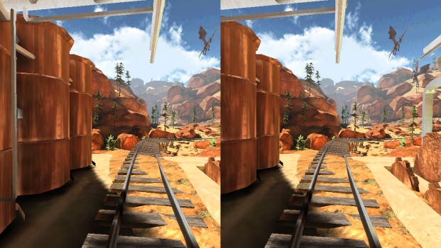 The Cmoar Roller Coaster VR offers a fun, action-packed ride.