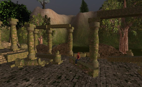Mysterious ruins on the Port Oak regions of the Pillars of Mist grid.