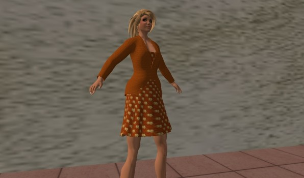 Damien Fate's mesh dress with jacket_001
