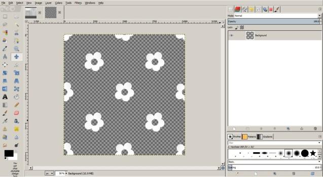 White flowers in GIMP