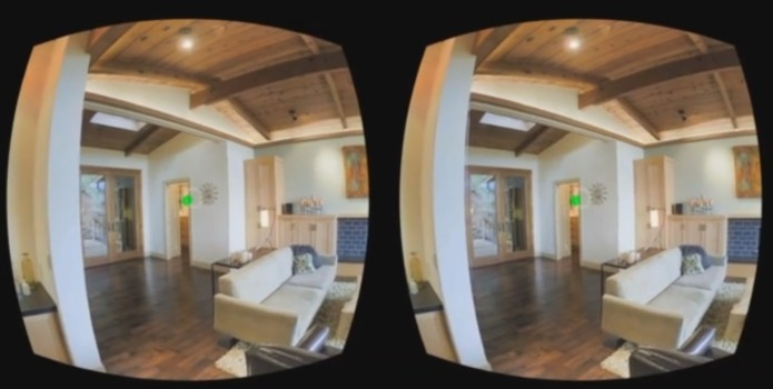 Many real estate, museum and vacation tours combine multiple 360-degree panoramic photos into virtual reality tours. (Image courtesy Matterport.)