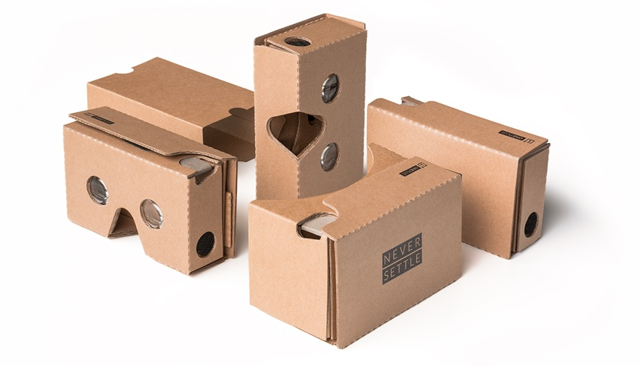 According to OnePlus, their version of the Google Cardboard header is thinner, made of stronger cardboard, and coated to repel oil and stains.