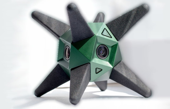 Sphericam with removable legs. (Image courtesy Sphericam.)