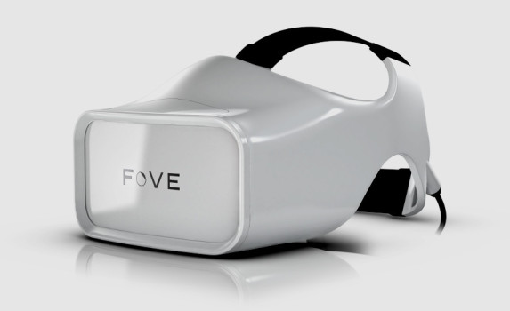 FOVE's eye-tracking VR headset. (Image courtesy FOVE, Inc.)