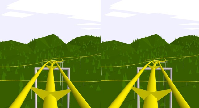 Google VR Chrome Experiments's roller coaster application runs in the browser and is fully compatible with Google Cardboard.