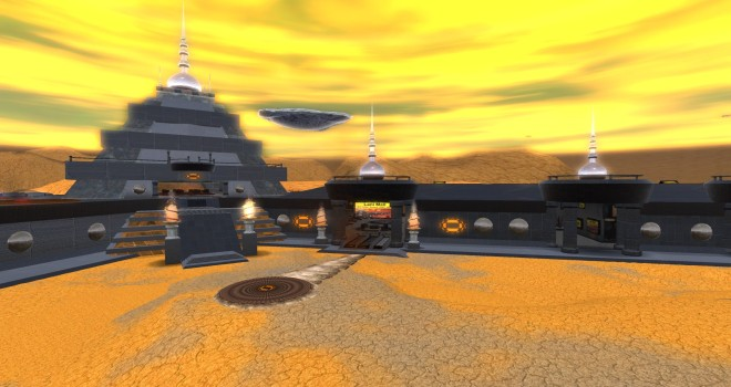 The Lani Mall on OSgrid's Lani region is home to more than 50 shops offering over 2,000 different products, many freebies with a science fiction-theme.