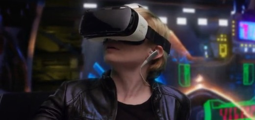 The Samsung Gear VR is one of the better-looking headsets currently on the market. (Image courtesy Samsung.)