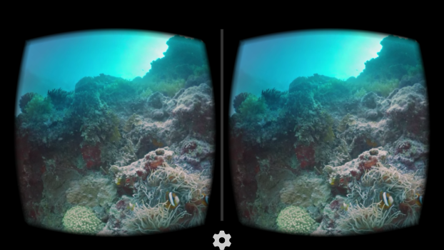 The trip also includes an underwater segment, filmed at the Great Barrier Reef itself.