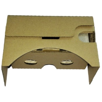 Google Cardboard v2 headsets with capacitative button on top.