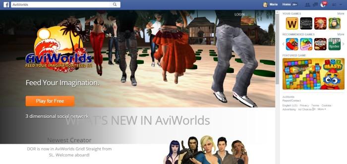 AviWorlds Facebook app