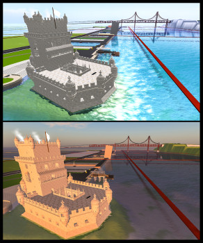 Belem tower in Digital Lisbon. (Image courtesy Carlos Loff.)