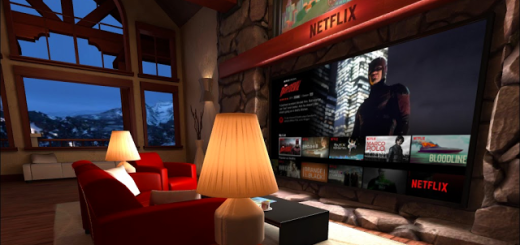 Netflix living room on Gear VR. (Image courtesy Netflix.)