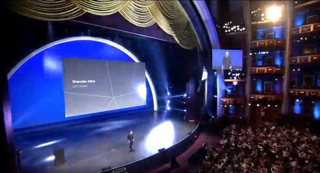 Oculus CEO Brendan Iribe takes the stage at Oculus Connect 2.