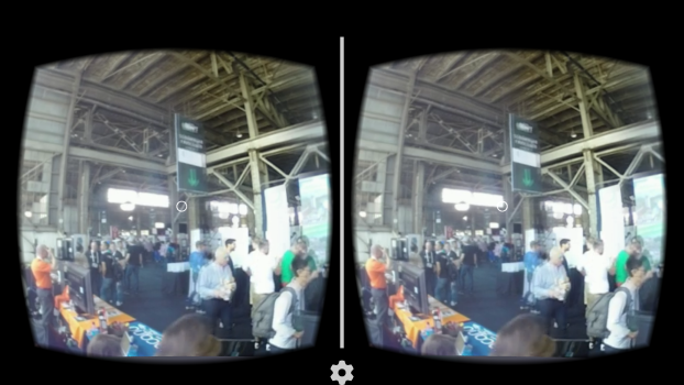 Livestreaming from TechCrunch Disrupt, via the YouVisit Android app.