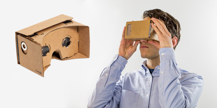 Google Cardboard virtual reality headset. (Image courtesy Abi Mandelbaum.)