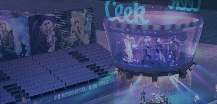 CEEK brings social experiences, like live concerts and sporting events, to mobile phones. (Image courtesy EON Reality Inc.)