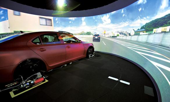 Lexus virtual reality driving simulator. (Image courtesy Lexus.)