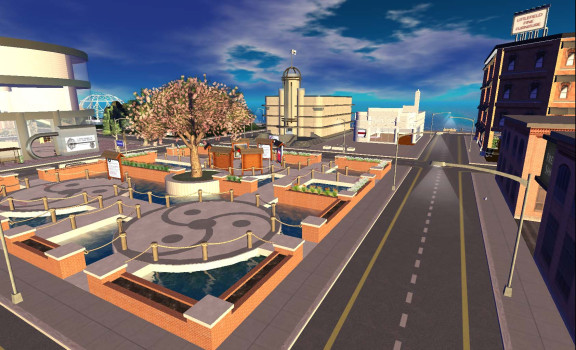 Littlefield is known for its unique content, created by residents, and offered for free. Littlefield Grid Mall. (Image courtesy Littlefield Grid.)
