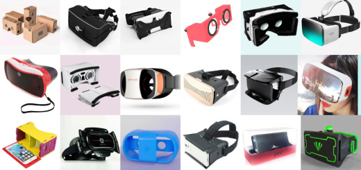 Just some of the Google Cardboard-compatible headsets on the market today.