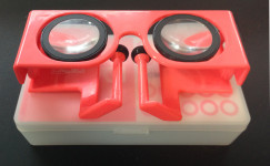 Baofeng Small Mojing VR headset with case.