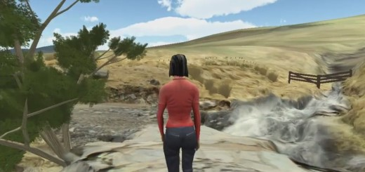 A virtual geology field trip by Daden Limited for Open University.