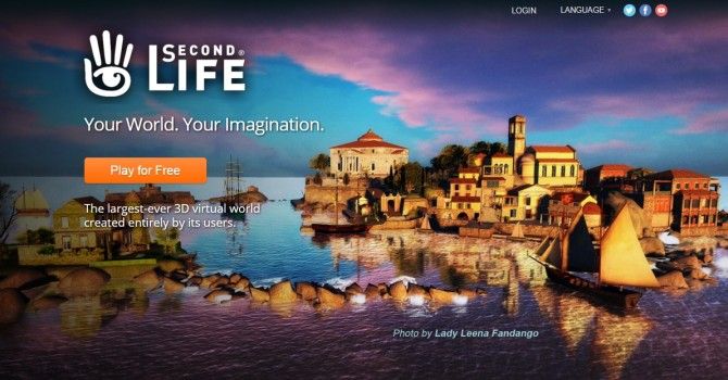 Second Life website