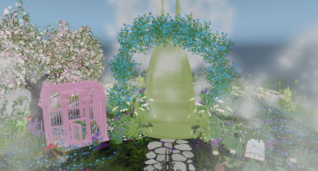 A virtual paradise by Avia Bonne. (Image courtesy Nara Malone.)