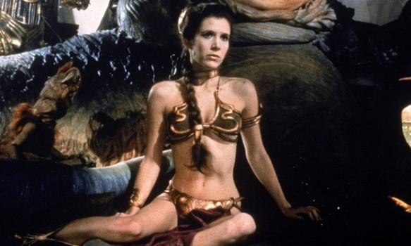 Carrie Fisher as Slave Leia.
