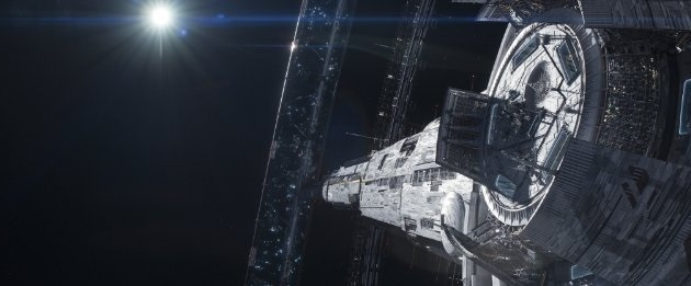 In the movie Elysium, the rich have all moved to a luxury space station. (Image courtesy of TriStar PIctures.)