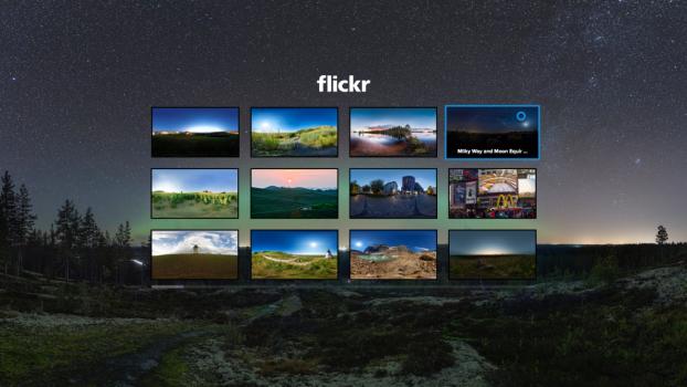 Flickr Gear VR app. (Image courtesy Flickr.)