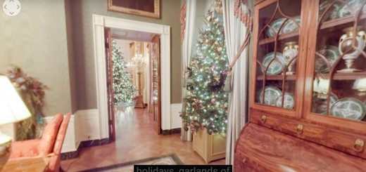 (White House holiday decorations.)