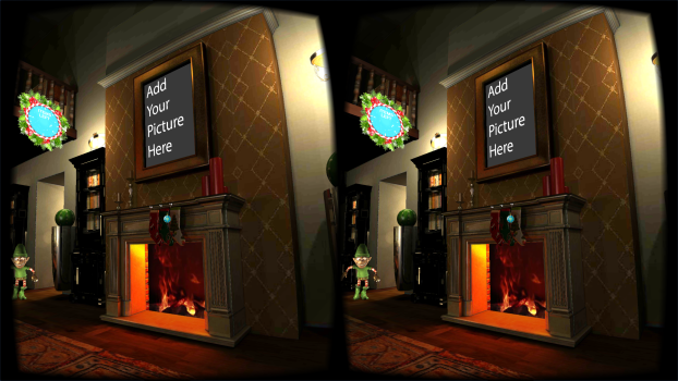 A Magical VR Christmas interactive app. (Image courtesy WakingApp.)