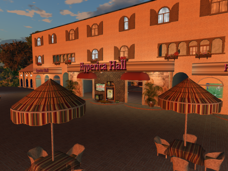The Hyperica Hall, the OpenSim Treasure Hunt headquarters.