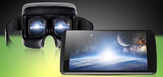 Lenovo's K4 Note smartphone with Ant VR headset. (Image courtesy Lenovo.)