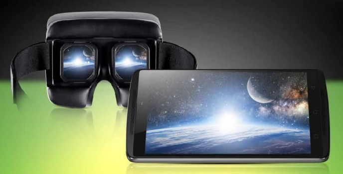 Lenovo's K4 Note smartphone with Ant VR headset. (Image courtesy Lenovo.)