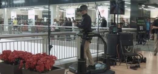 The Virtuix Omni at the mall. (Image courtesy Virtuix.)