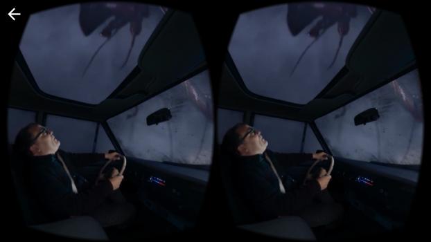 Screenshot from the Goosebumps VR app.