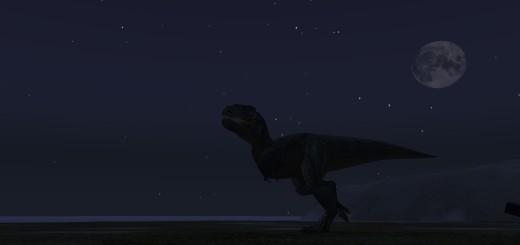 scary dinosaur on Cookie II
