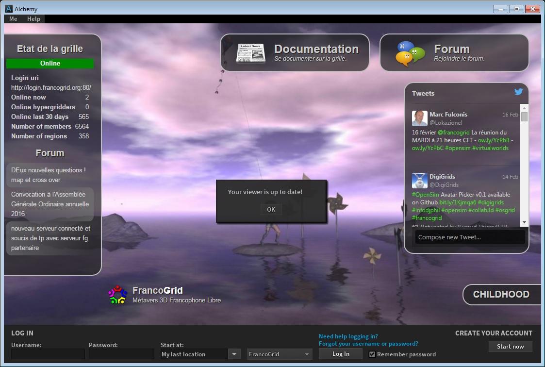 Alchemy viewer updates browser, chat bar – Hypergrid Business