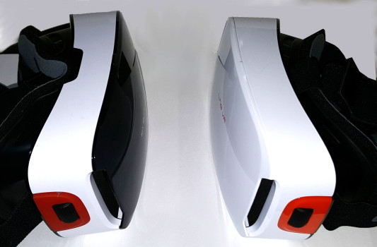 The original Ling VR is on the left and the new Ling VR 1S is on the right.
